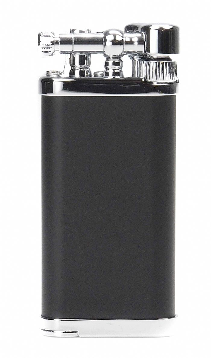 Im Corona pipe lighter, Old boy, black and silver - The Danish Pipe Shop